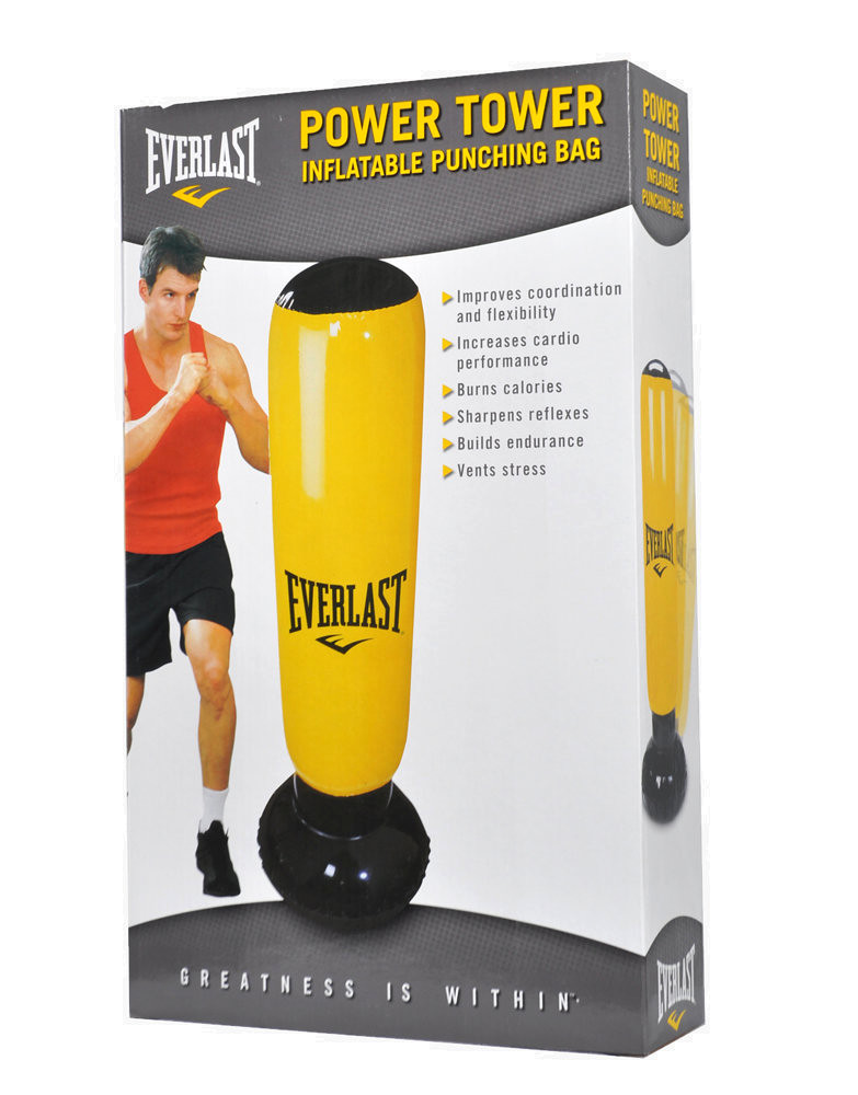 Everlast Fitness Tower Inflatable Punching Bag Colour Yellow