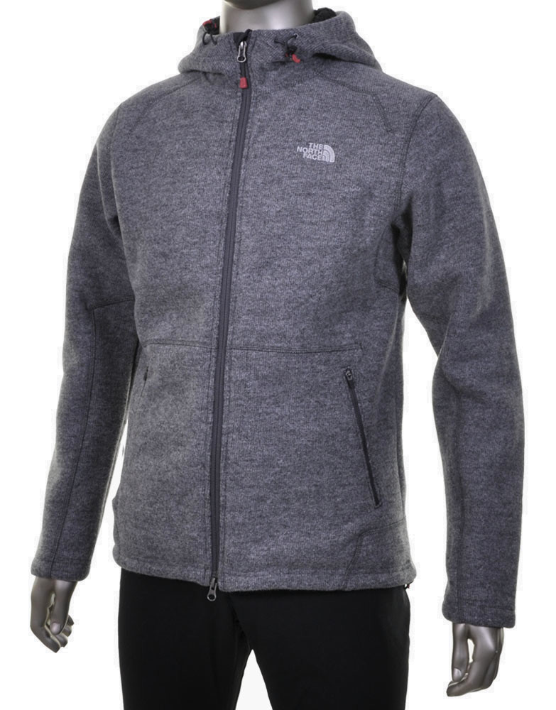 Jacket De color The Zip Face North Zermatt Full Hoodie Gris xp7nwtIIqB