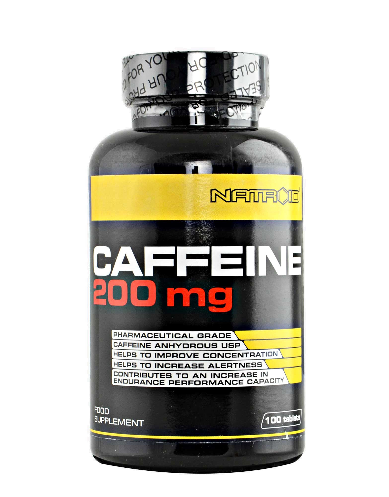 Caffeine 200mg By NATROID (100 Tablets