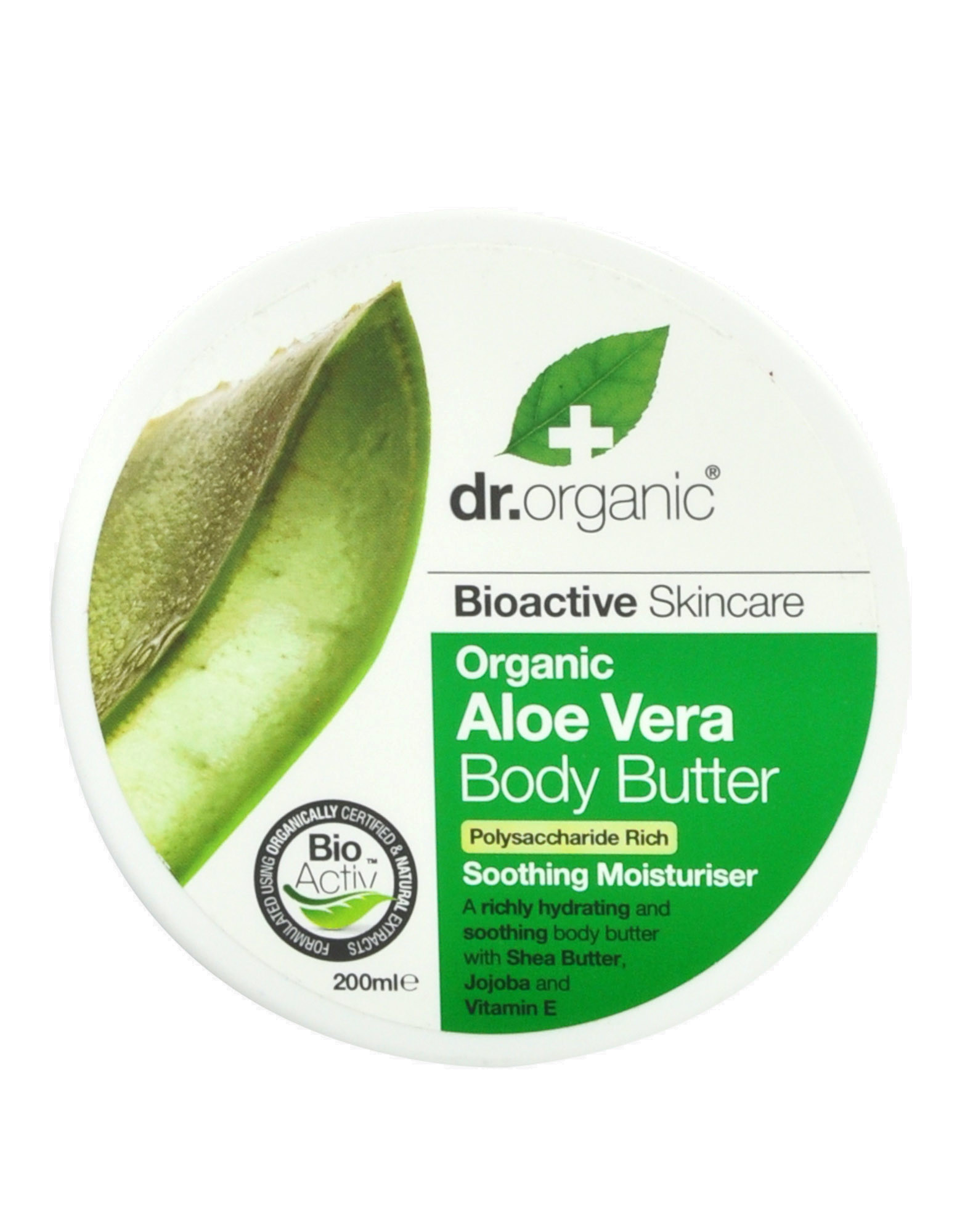 organic aloe vera body butter by dr organic 200ml 16 59. Black Bedroom Furniture Sets. Home Design Ideas