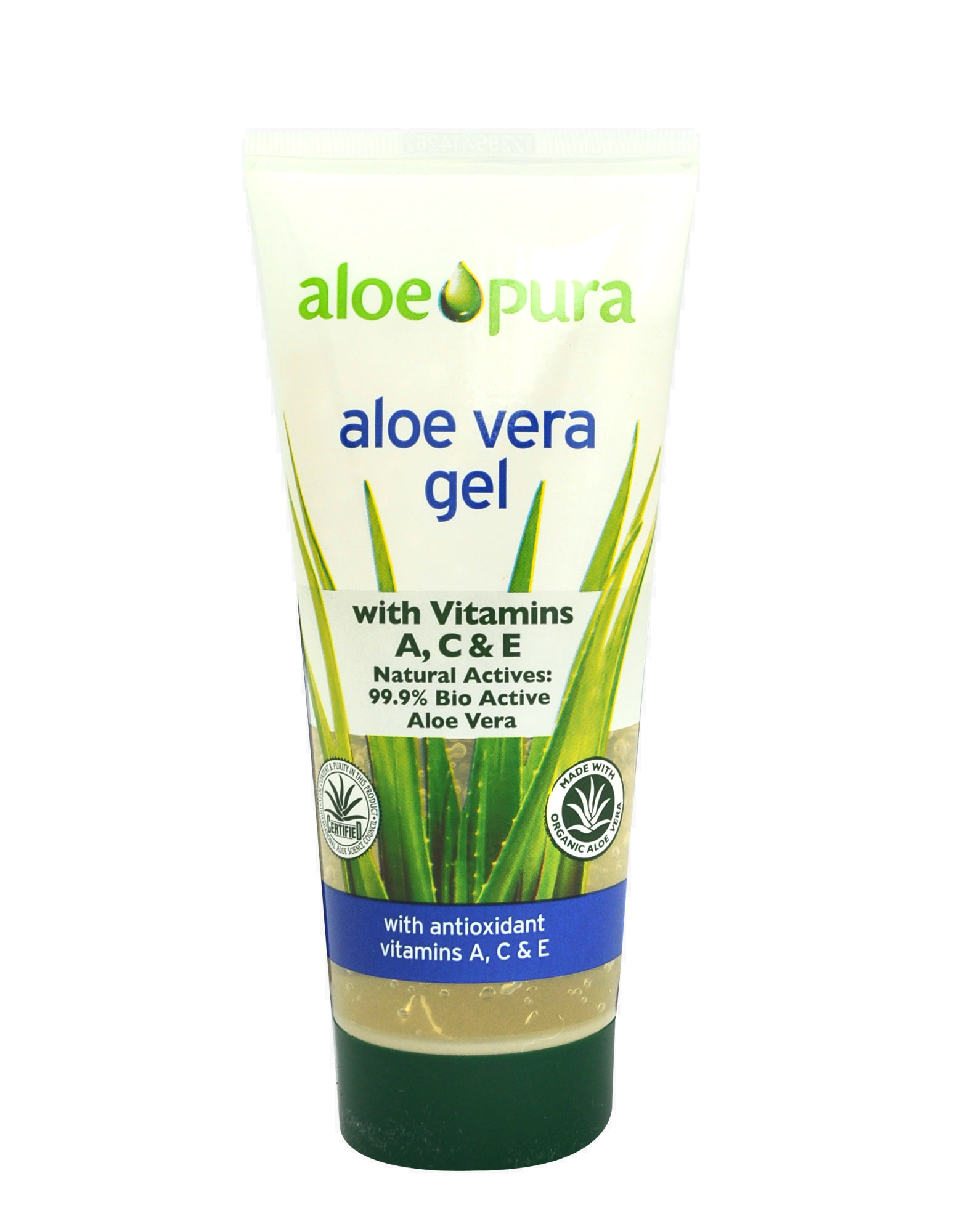 aloe pura aloe vera gel a c e di optima 200ml 10 13. Black Bedroom Furniture Sets. Home Design Ideas