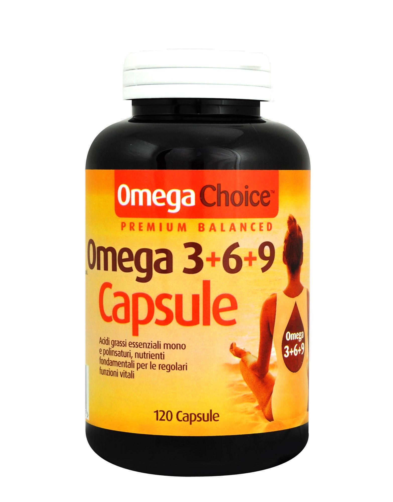 Omega Choice Omega 3 6 9 Capsules By Optima 120 Tablets