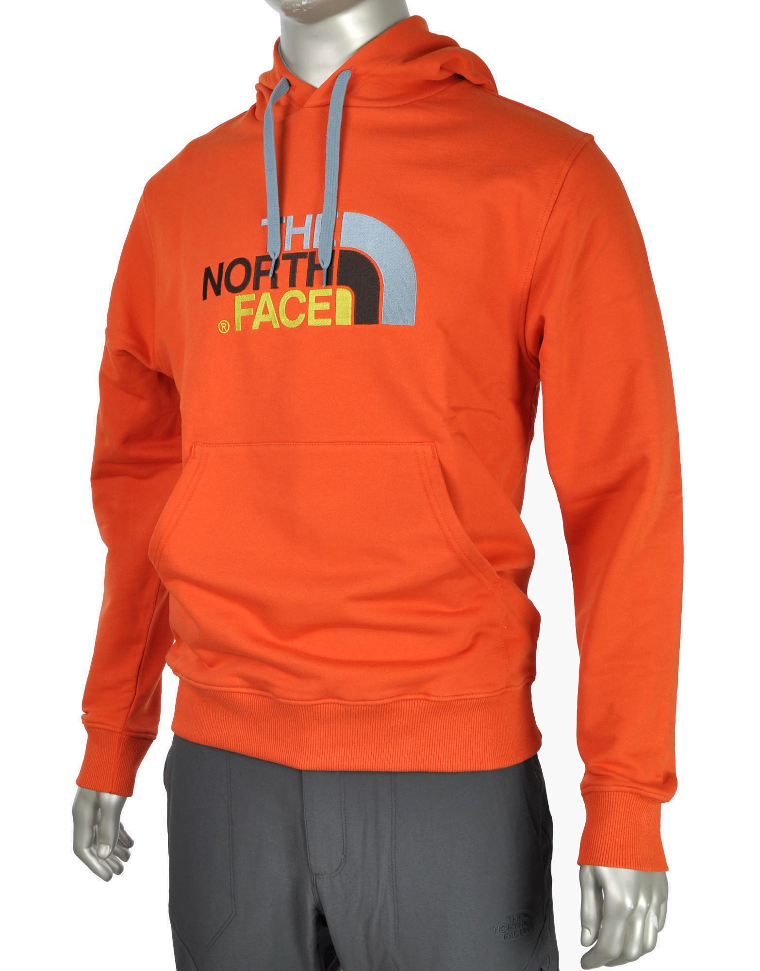 North Face Hoodie Orange