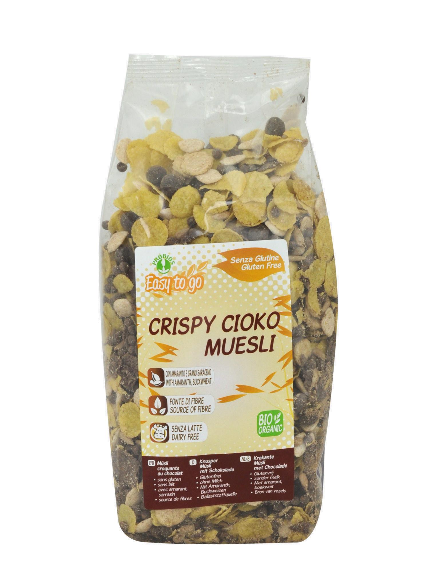 crispy cioko muesli gluten free by easy to go 300 grams 4 38. Black Bedroom Furniture Sets. Home Design Ideas