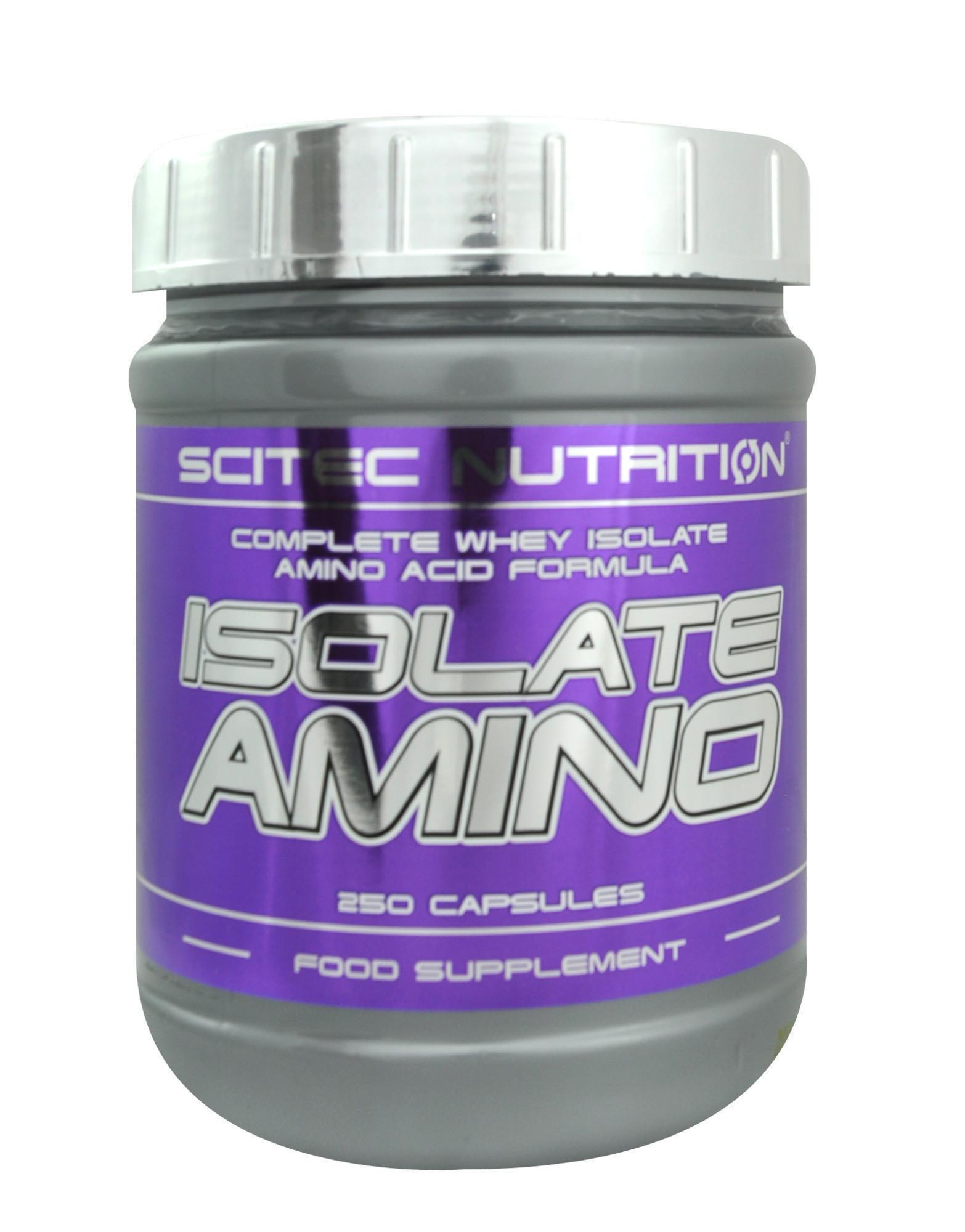 250 Caps Scitec Nutrition Whey Isolate Amino Acid Capsules