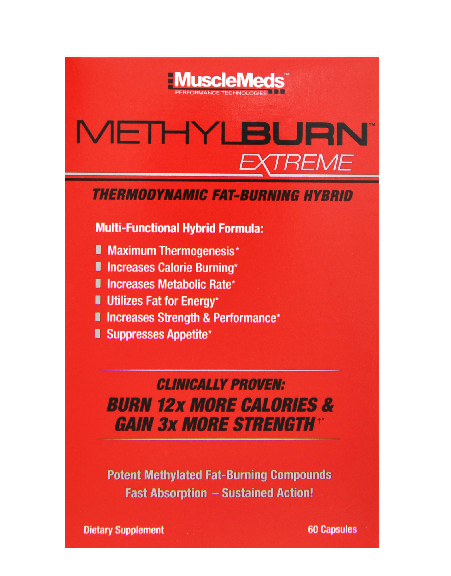 3X Triple Action Burner methylburnmusclemeds, 60 capsules - iafstore