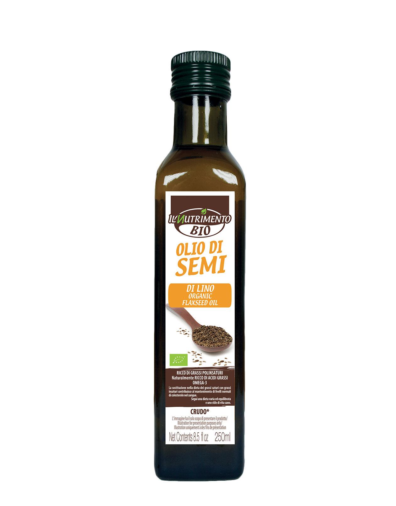 Flax seed organic oil by bio organic 250ml 3 59 for Olio di lino crudo