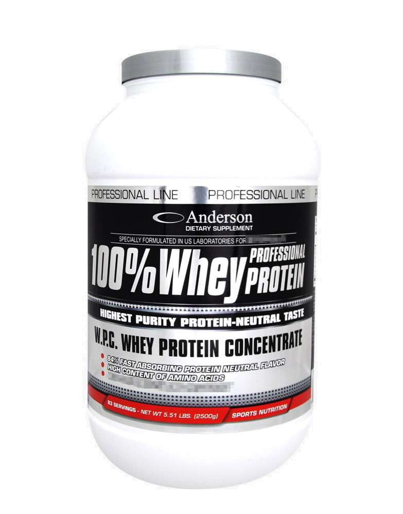100 whey professional protein by anderson research 2500 grams. Black Bedroom Furniture Sets. Home Design Ideas