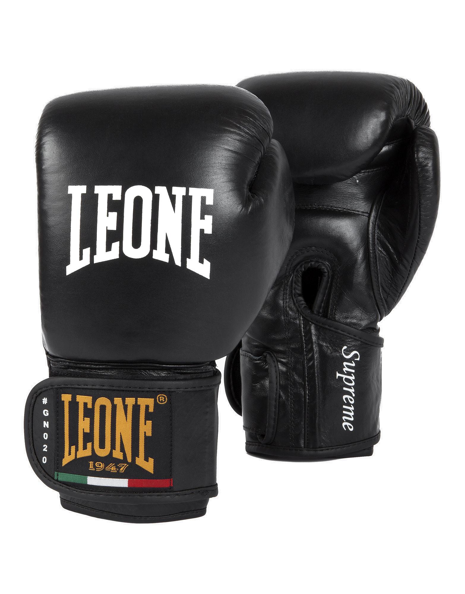 Gloves Supreme Velcro by Leone, Colour: Black - iafstore com