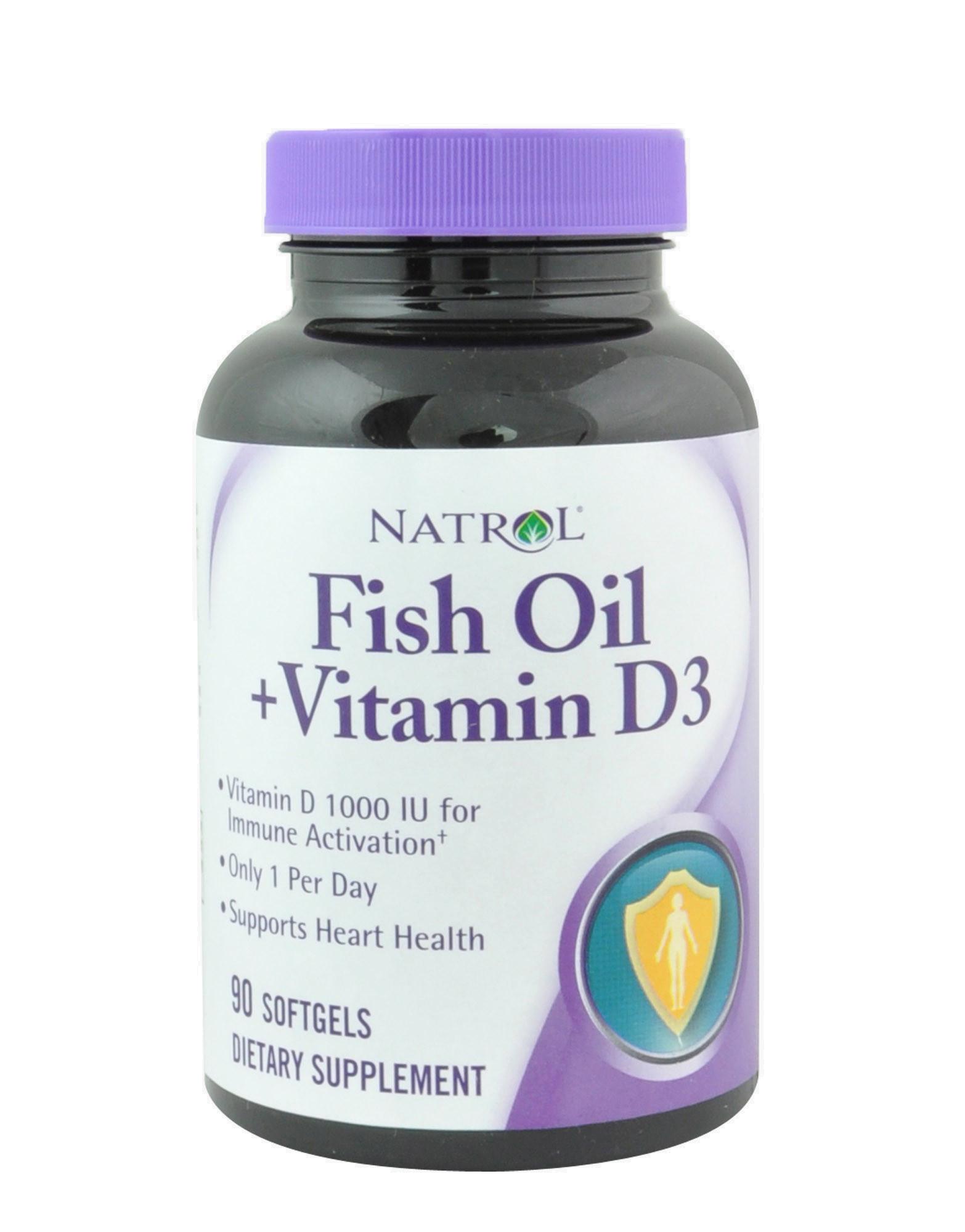 Fish oil vitamin d3 di natrol 90 softgel 13 80 for Fish oil vitamin e
