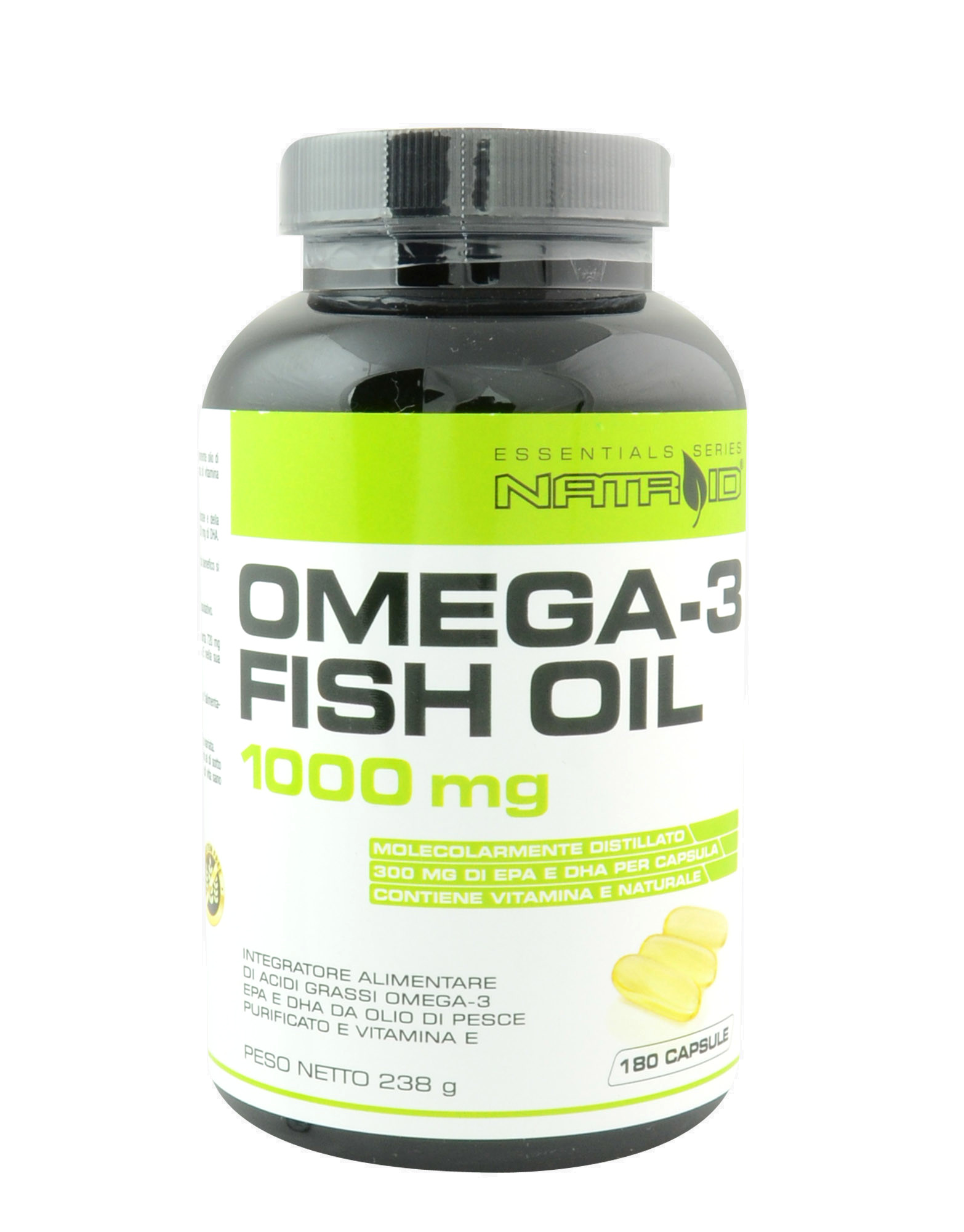 Essentials series omega 3 fish oil 1000mg di natroid for Is omega 3 fish oil