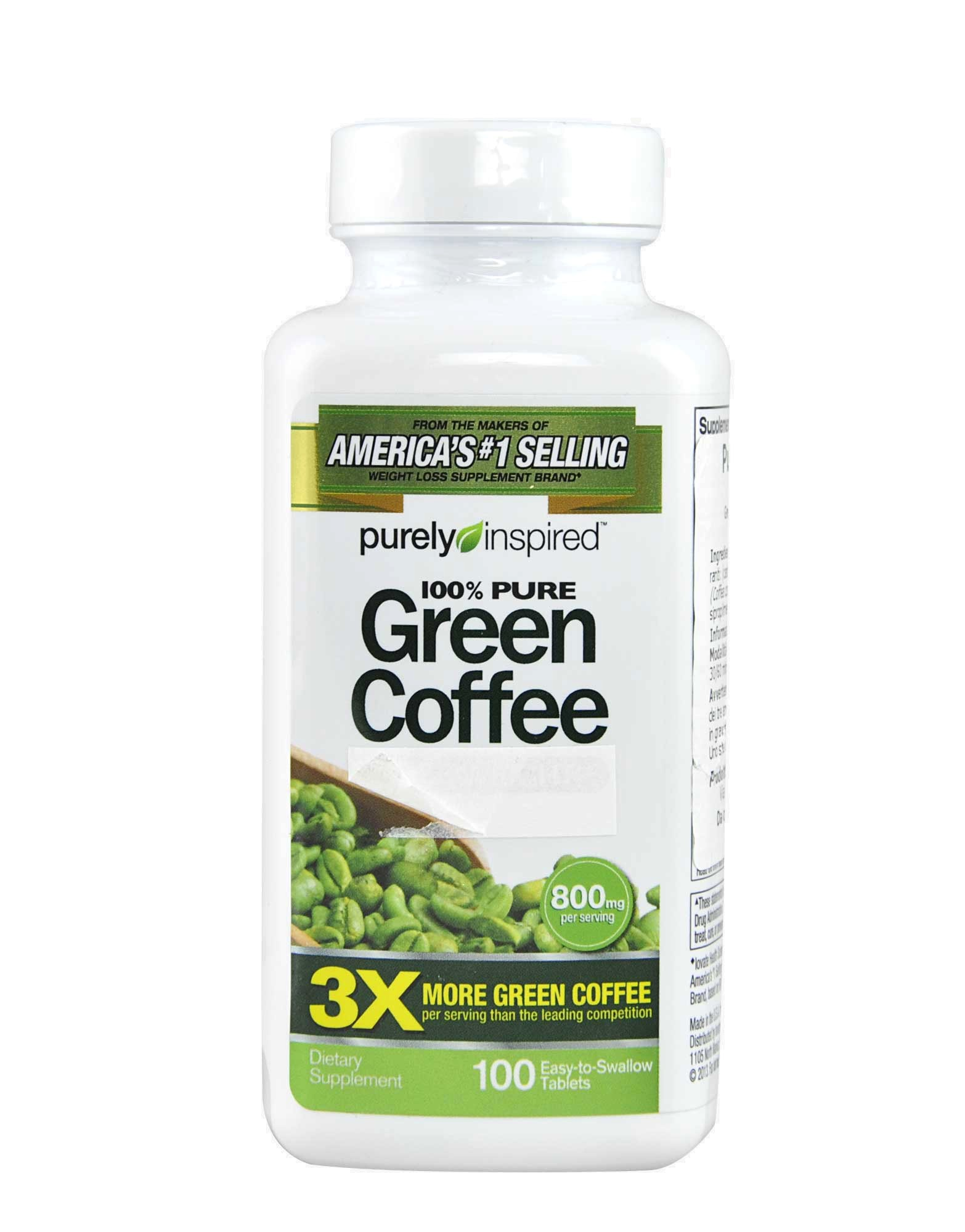 100 Pure Green Coffee By Purely Inspired 100 Tablets Iafstore Com
