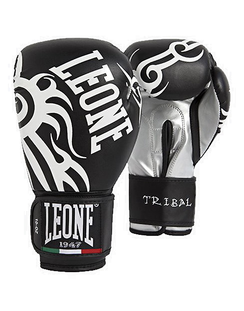 Gloves Tribal by Leone, 10oz Colour: Black - iafstore com