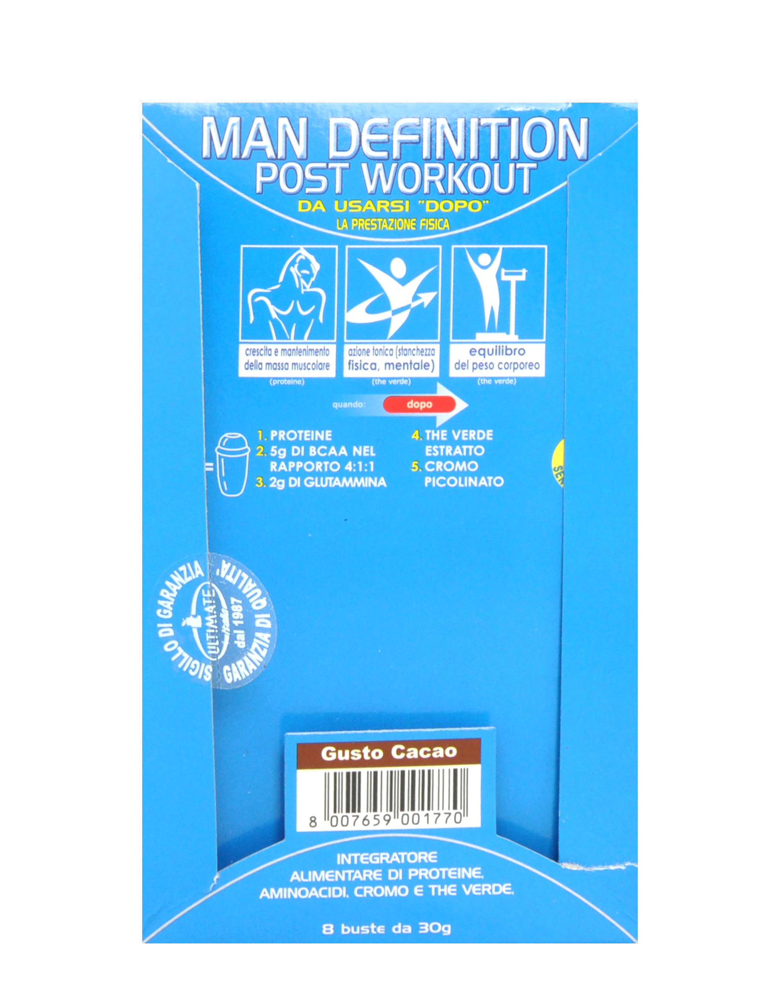 man definition post workout by ultimate italia (8 sachets of 30 grams)