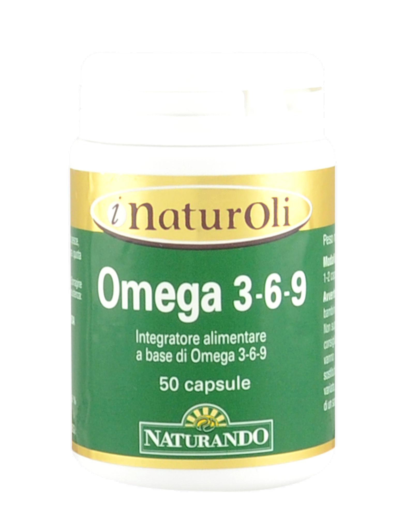 I Naturoli Omega 3 6 9 By Naturando 50 Capsules Iafstore Com