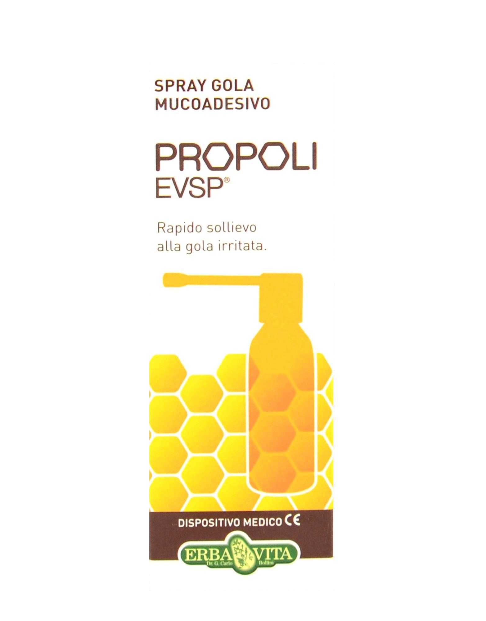 Propoli EVSP - Mucoadhesive Throat Spray by ERBA VITA (20ml) € 8,90