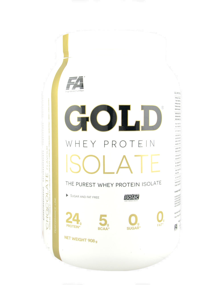 Gold Whey Protein Isolate by FITNESS AUTHORITY (908 grams)
