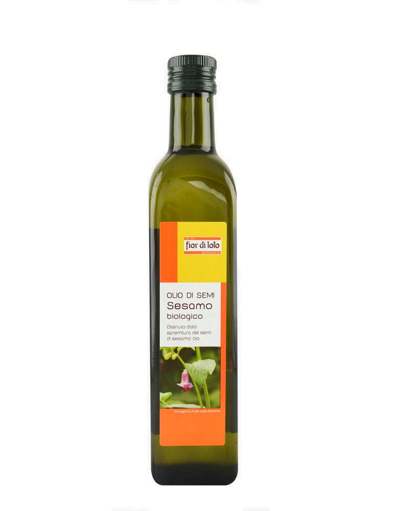 Olio di semi sesamo biologico di fior di loto 500ml - Olio di sesamo per cucinare ...