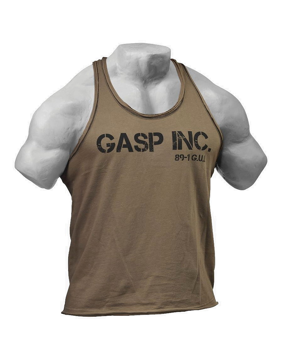 Division Jersey Tank By Gasp Wear Colour Wash Khaki 18 99