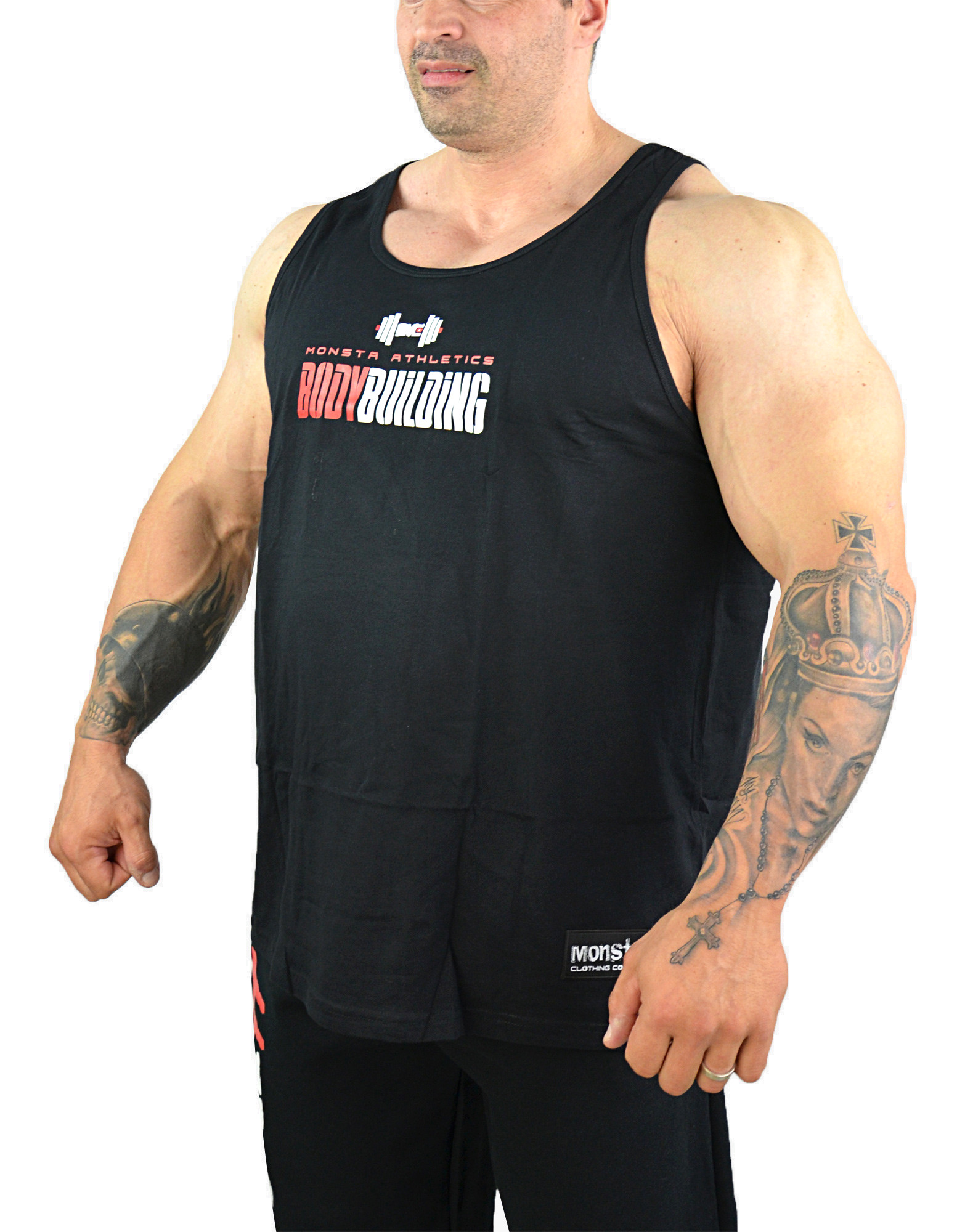 Bodybuilding Tank By Monsta Clothing Co Colour Black