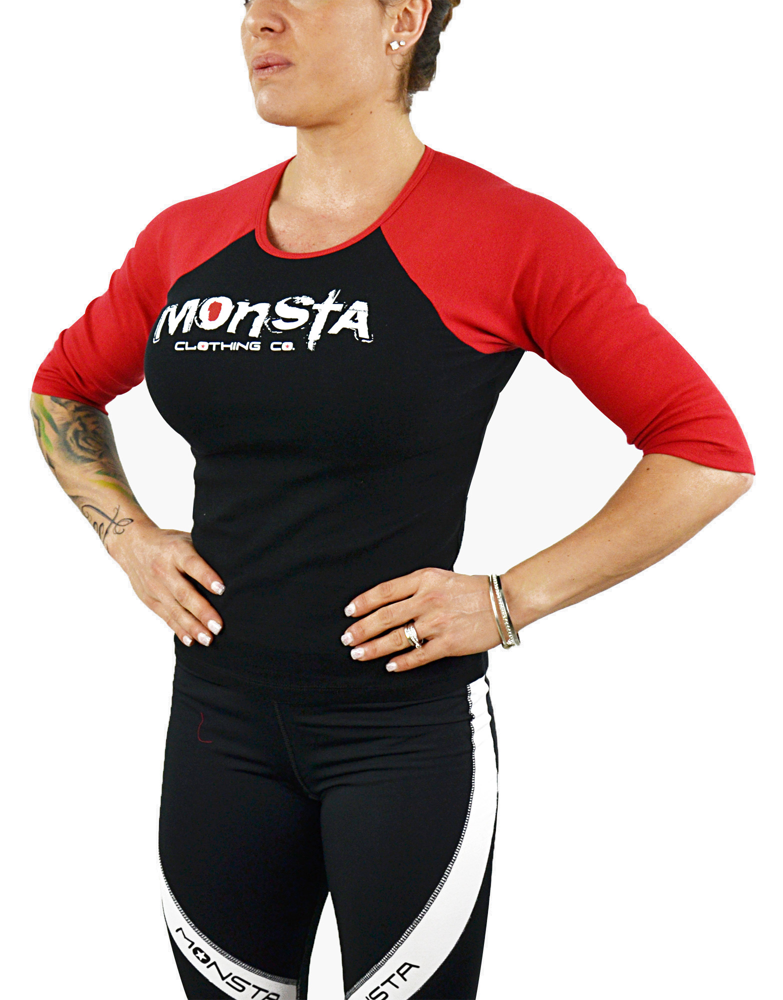 womens 3 4 sleeve signature by monsta clothing co