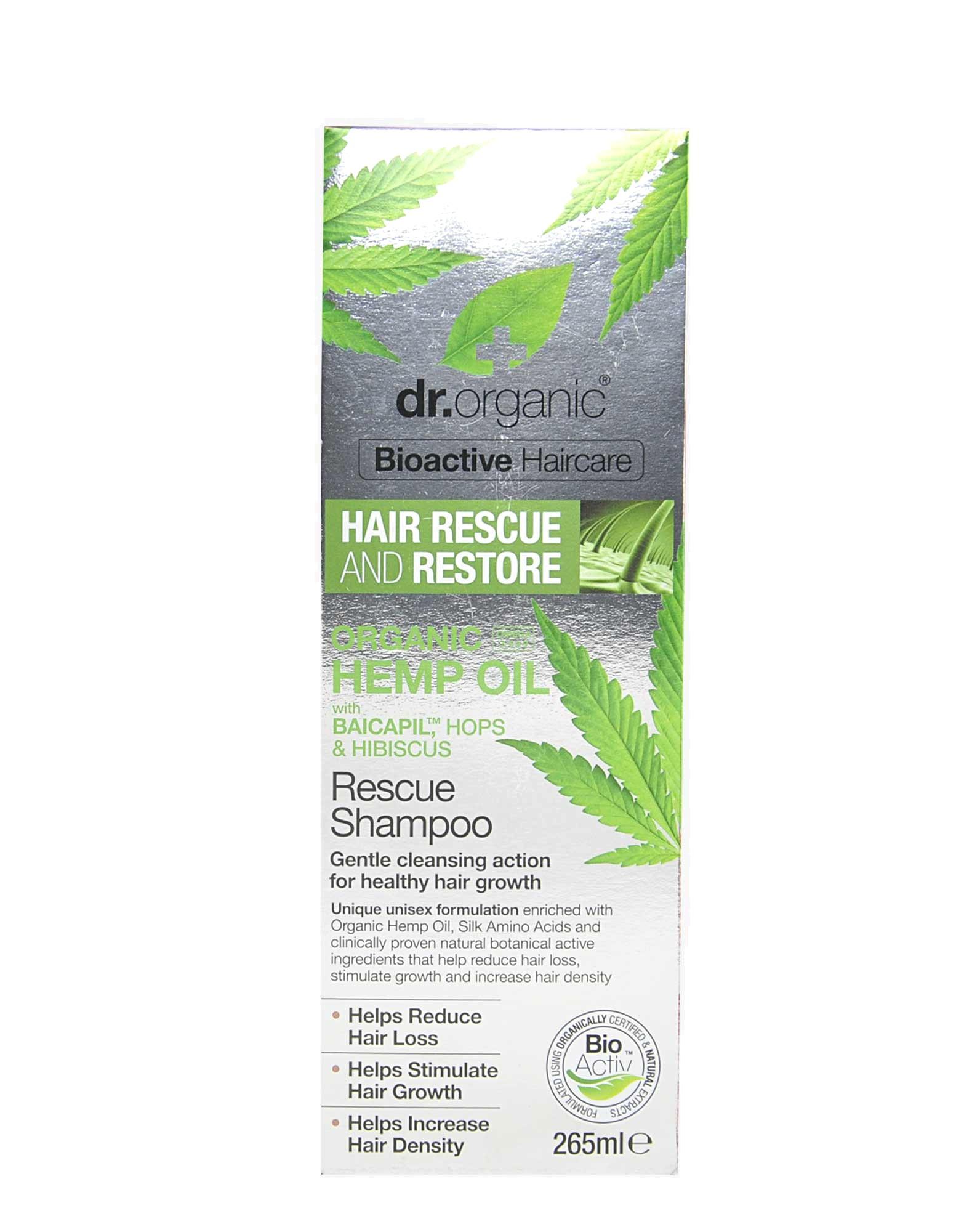 Organic Hemp Oil - Rescue Shampoo by Dr  organic, 265ml