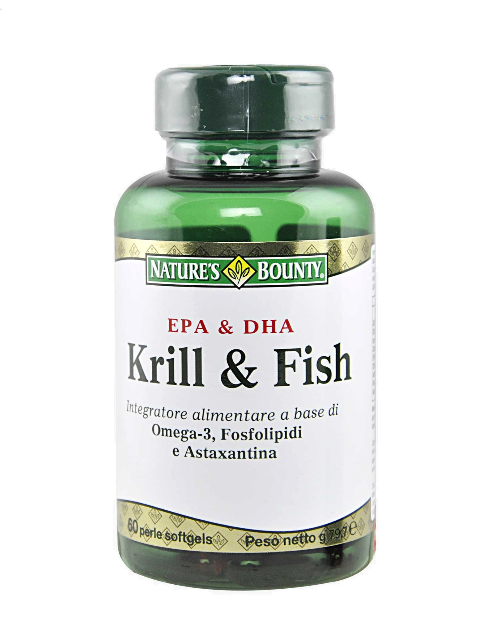 Krill fish by nature 39 s bounty 60 softgel pearls 35 20 for Fish oil pearls