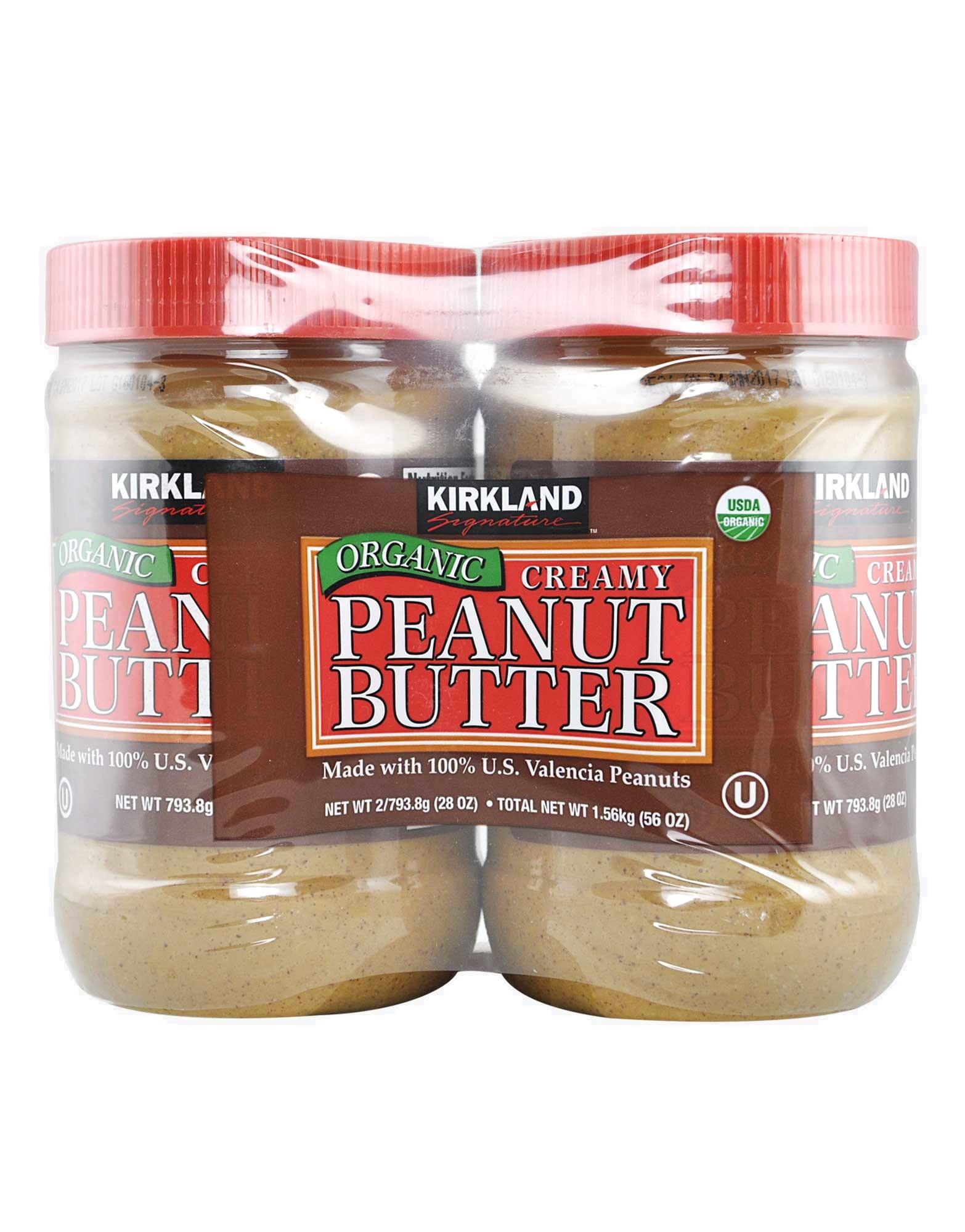 Organic Creamy Peanut Butter by Kirkland signature, 2 jars of