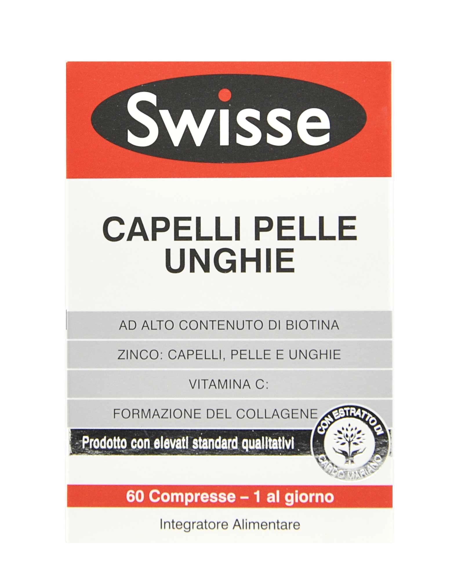 swisse capelli pelle unghie  Capelli Pelle Unghie di SWISSE (60 compresse)