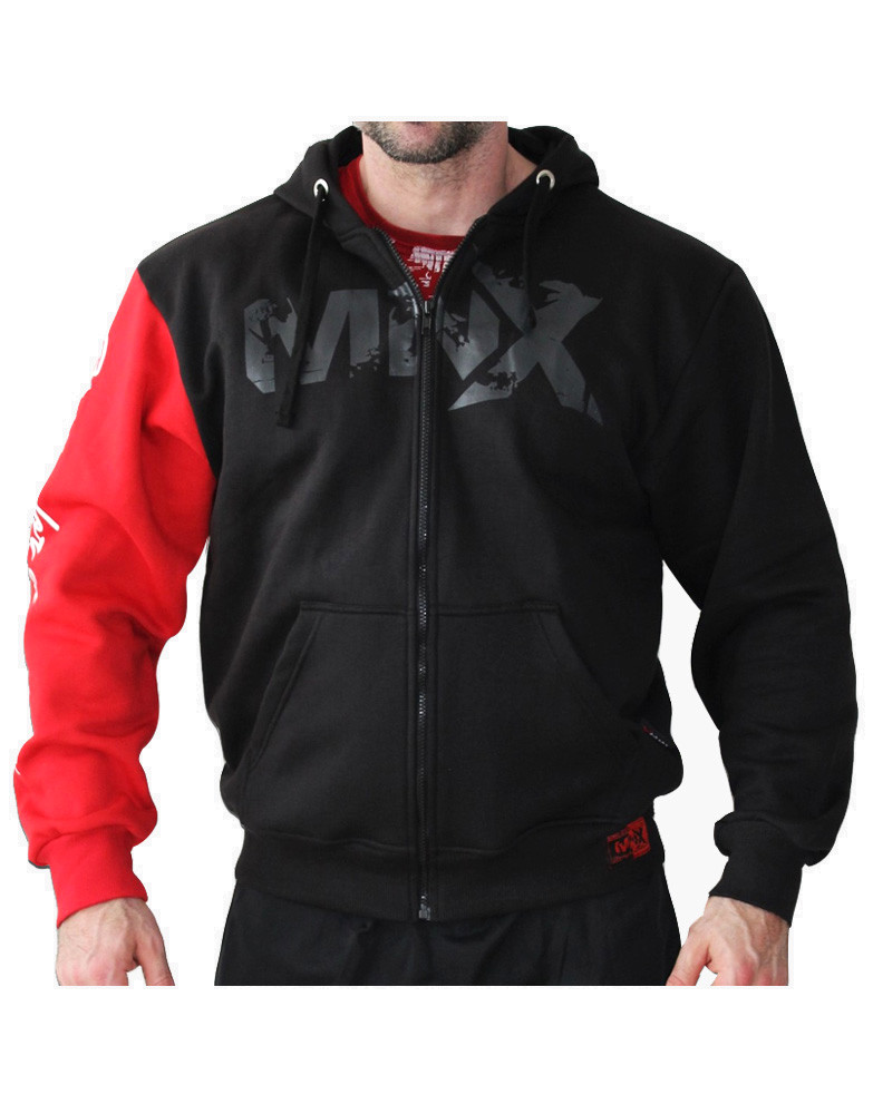 07361b339ea41 MNX Red Sleeve Hoodie by MNX SPORTSWEAR (colour  black   red)