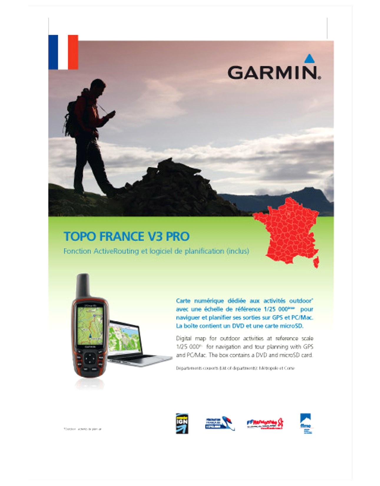 carte topo france v3 pro