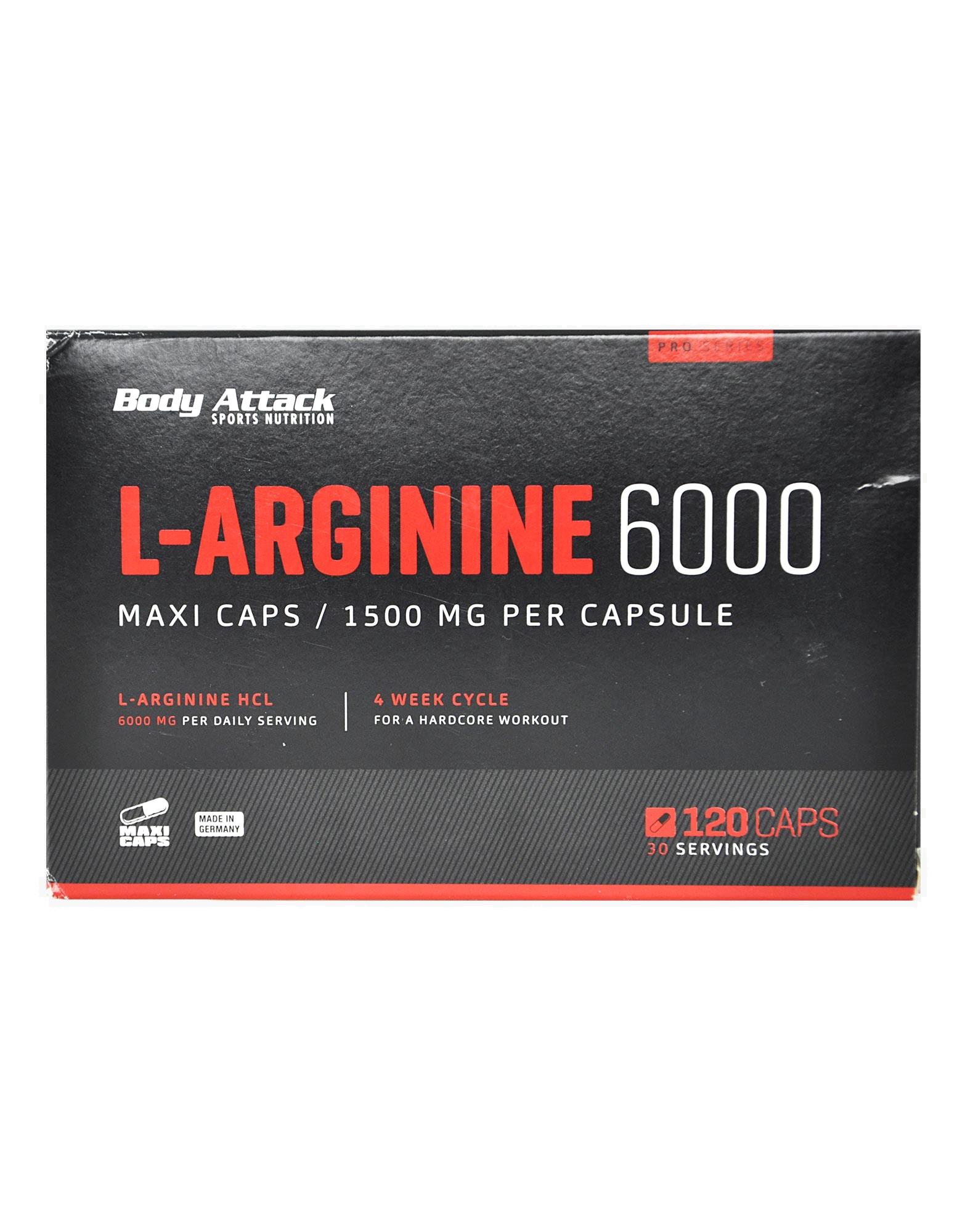 Bcaa Kick Body Attack l-arginine 6000 120 capsules