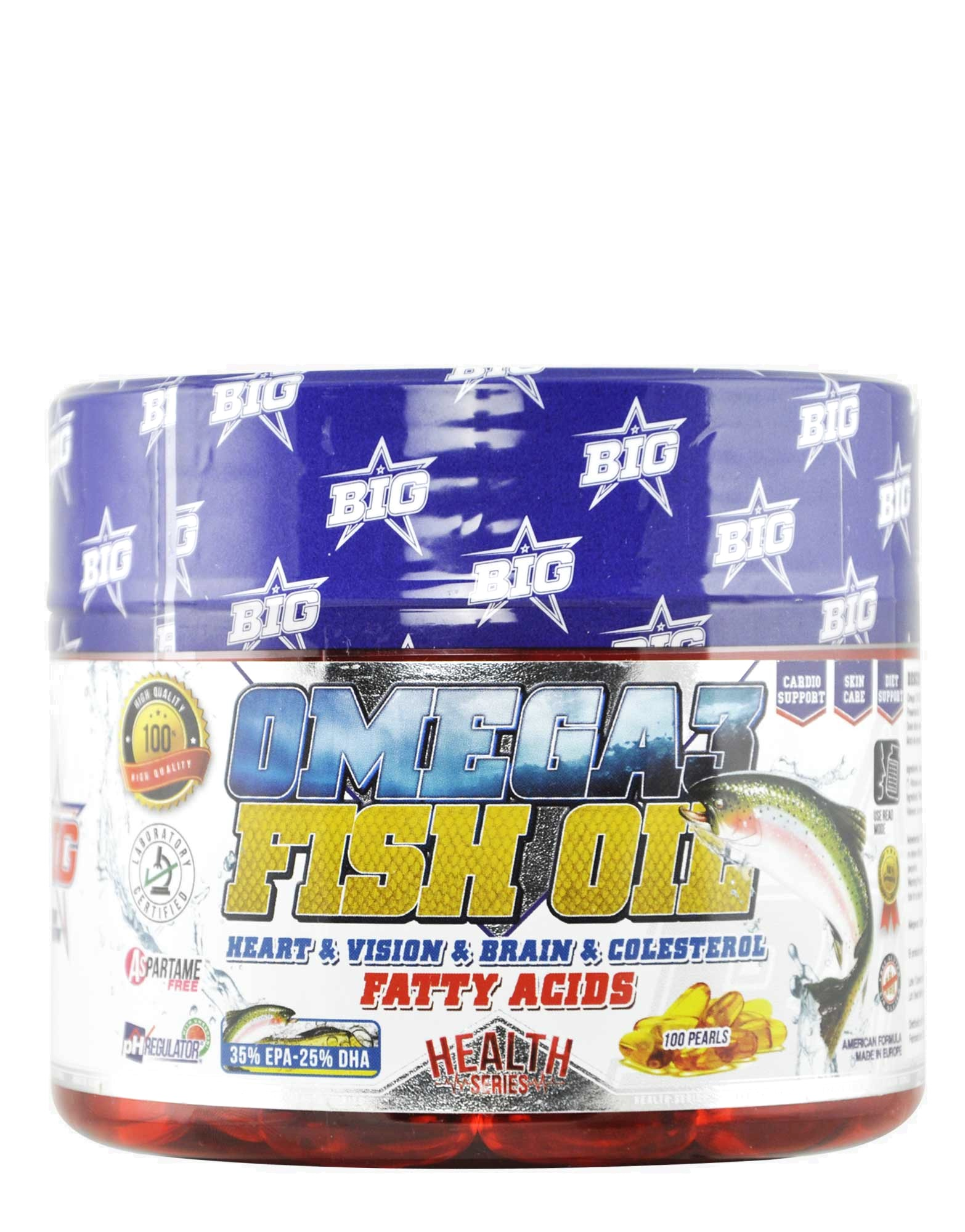 Big omega 3 fish oil by universal mcgregor 100 pearls for Fish oil pearls