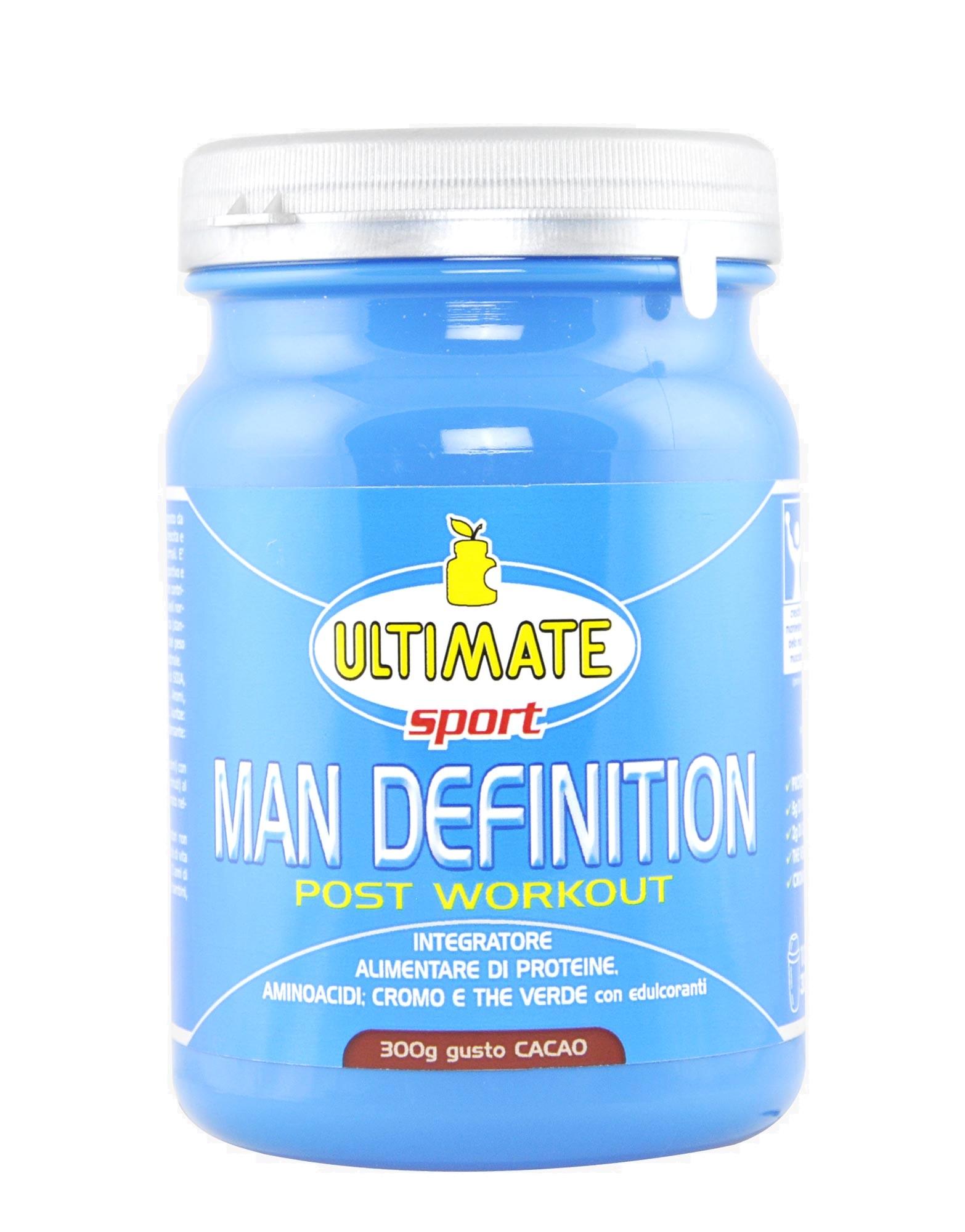 man definition post workout di ultimate italia (300 grammi)