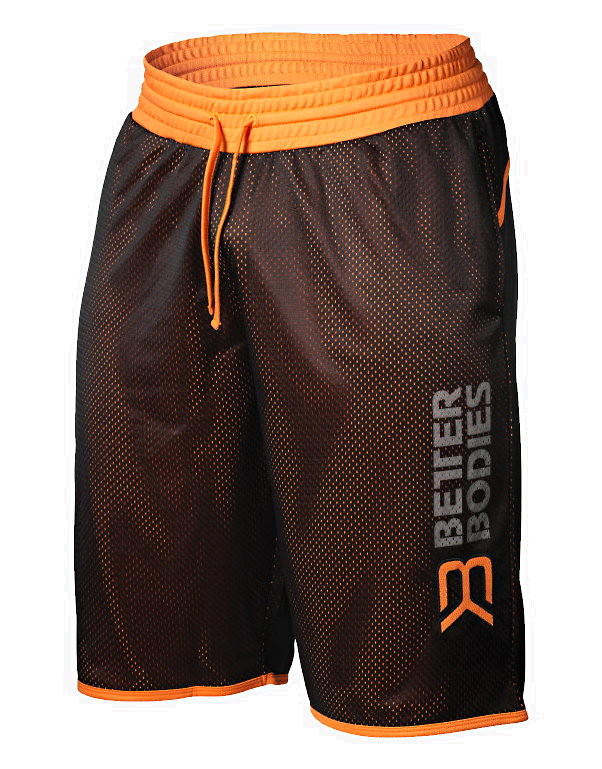 monia muodikkaita Viimeisin laadukkaita tuotteita BB Print Mesh Shorts by Better bodies, Colour: Black / Orange ...