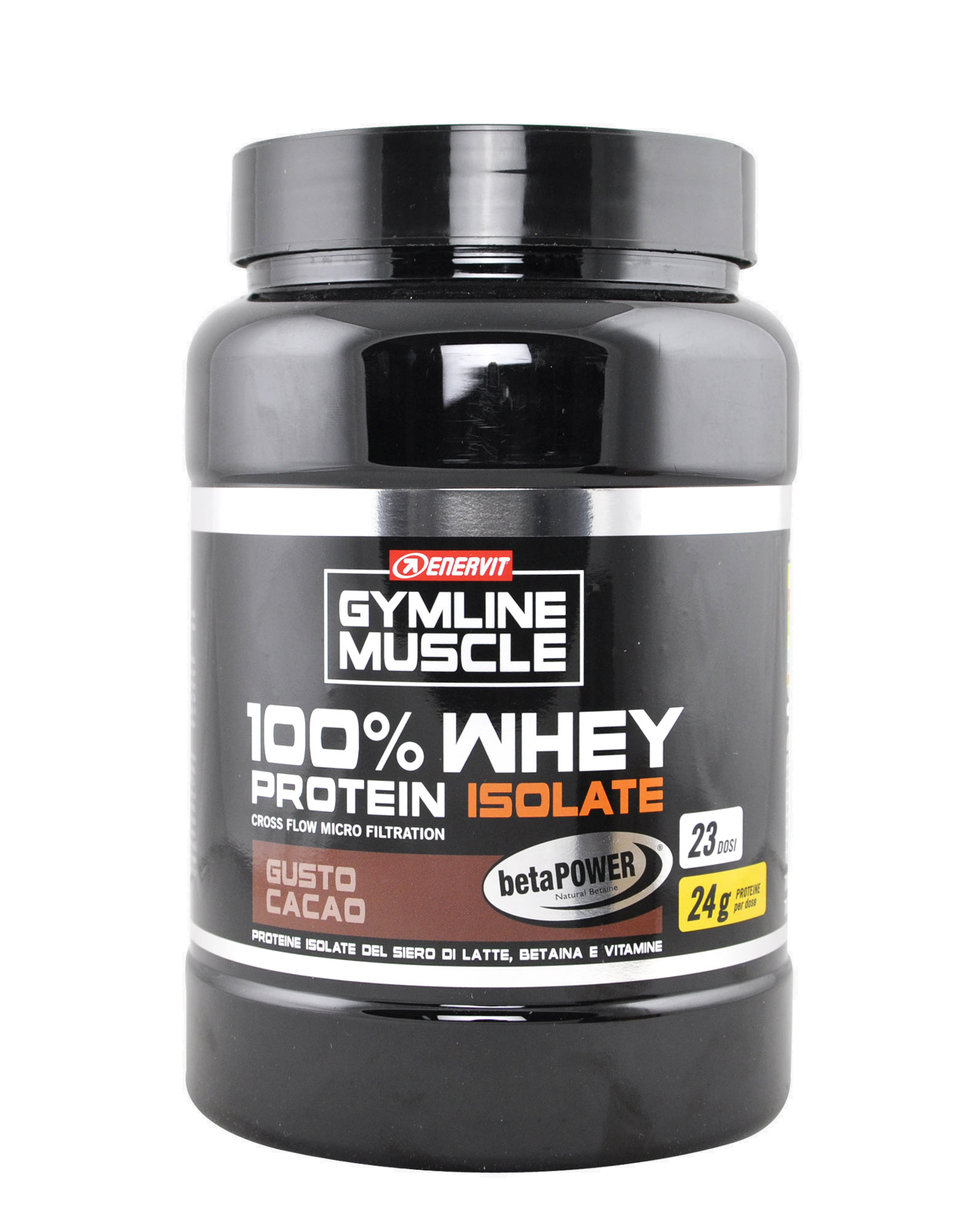 gymline muscle 100 whey protein isolate betapower by enervit 700 grams 36 88. Black Bedroom Furniture Sets. Home Design Ideas