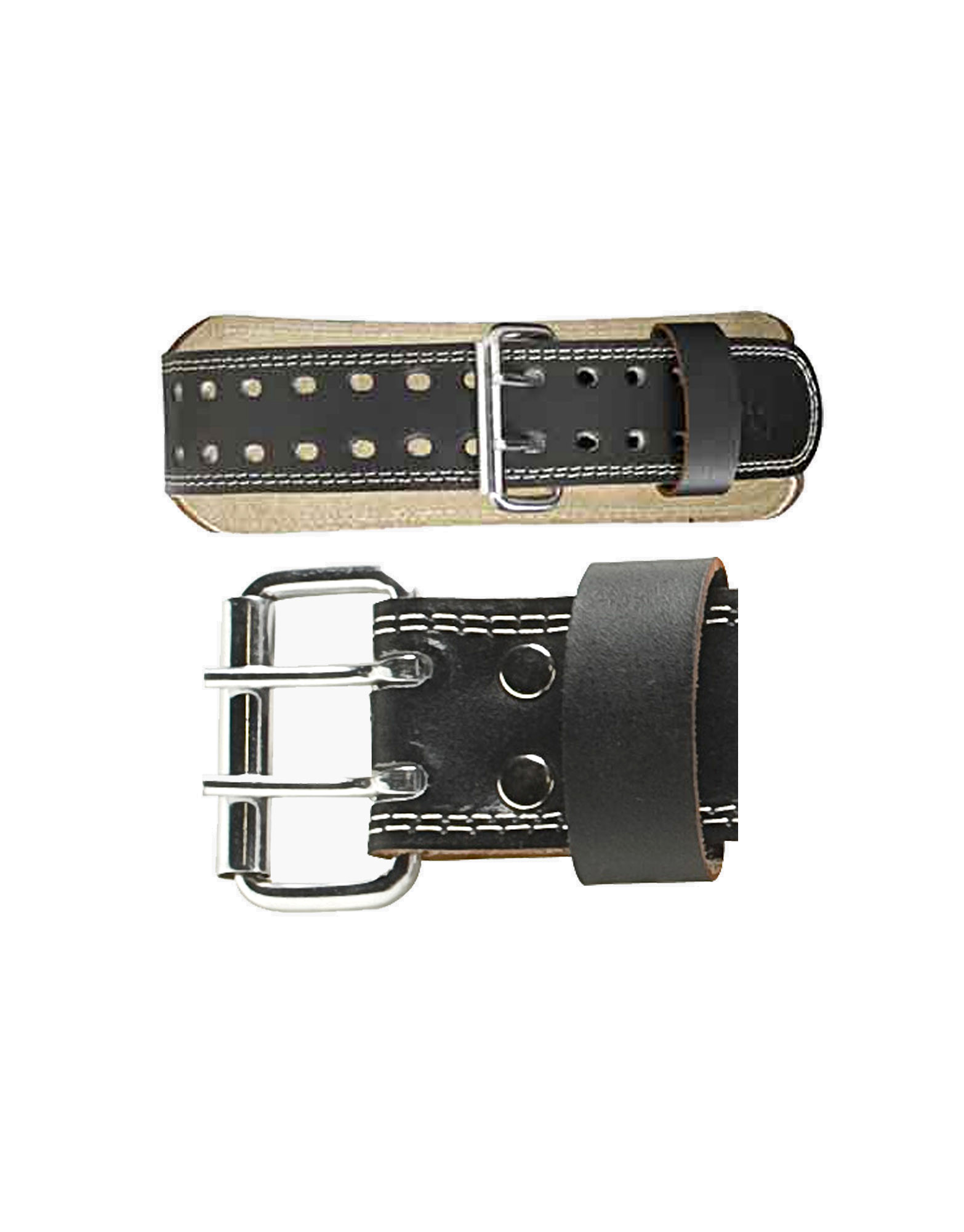 4 quot padded leather belt by harbinger colour black 22 41