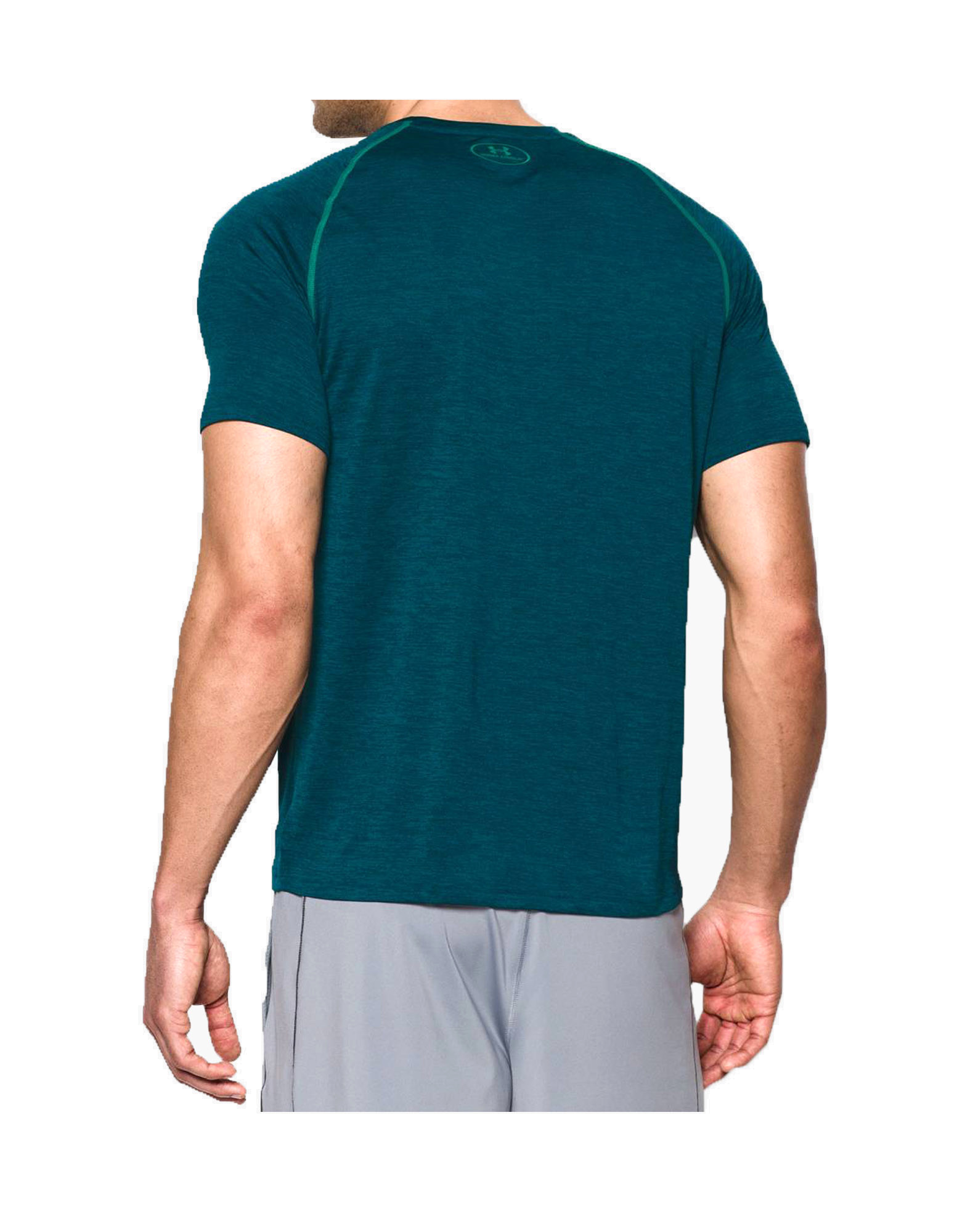 Men 39 s ua tech short sleeve t shirt by under armour colour for Teal under armour shirt