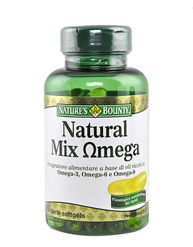 Natural mix omega by nature 39 s bounty 60 softgel pearls for Nature made fish oil pearls