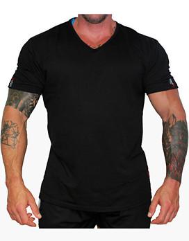 45deb13f233a8 MNX SPORTSWEAR MNX V-Neck Basic T-Shirt Colour  Black   25