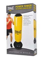 Power Tower Inflatable Punching Bag Colour: Yellow