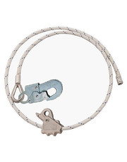 Work Protections Longe Adjustable Wire Steel Rope + carabiner Double Gate 3m