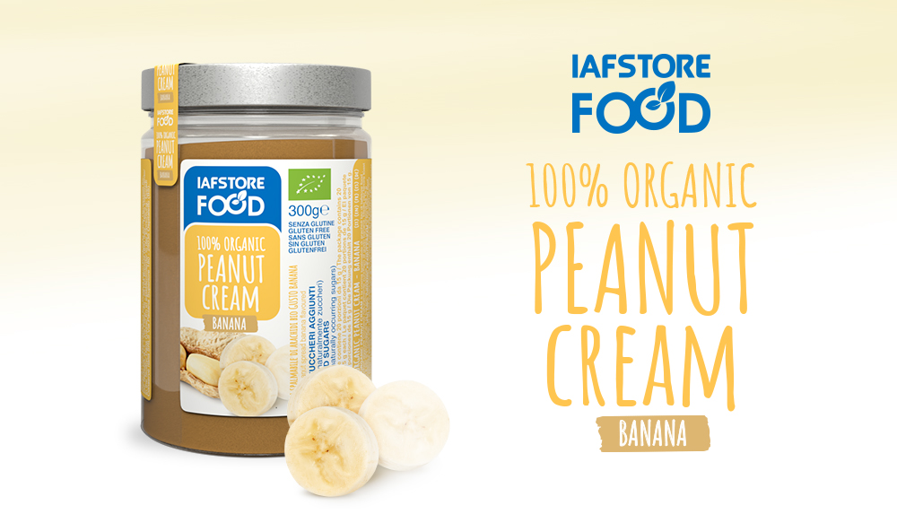 Iafstore Supplements - 100% Organic Peanut Cream Banana Flavoured - IAFSTORE.COM