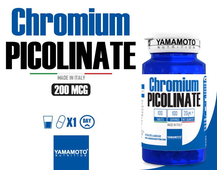 Chromium PICOLINATE YAMAMOTO NUTRITION (100 comprimés) € 6,99