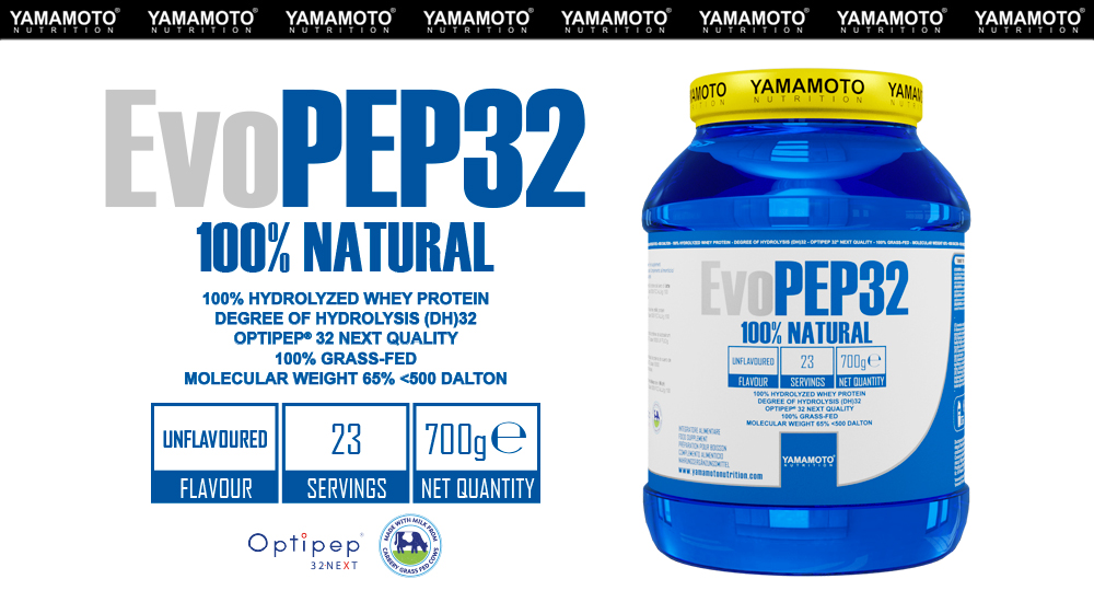 Yamamoto Nutrition - Evopep32 100% Natural - IAFSTORE.COM