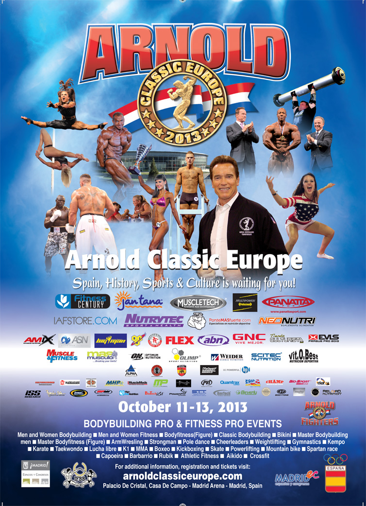 2013 Arnold classic Europe: commento tecnico categoria bodybuilding fino a  90 kg