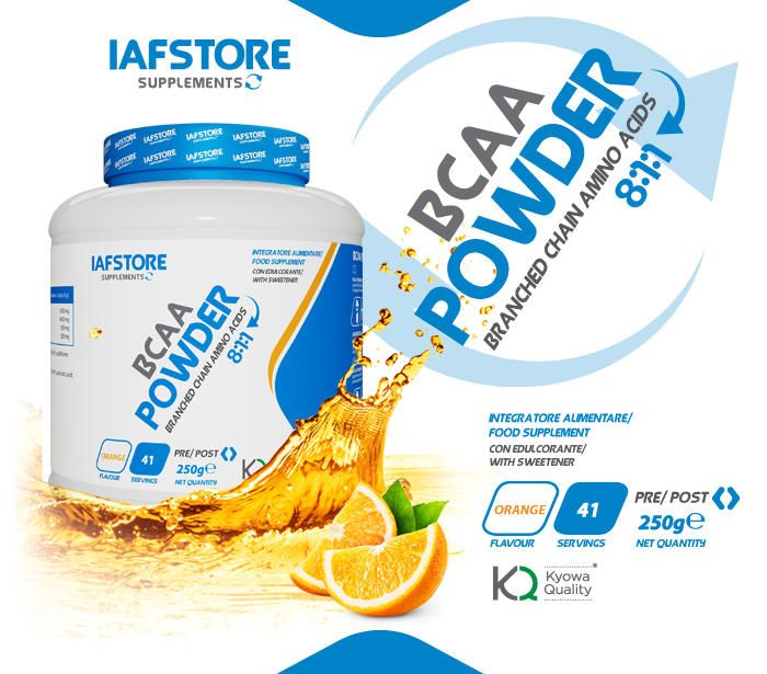 Iafstore Supplements - Bcaa Powder 8:1:1 Kyowa® Quality - IAFSTORE.COM
