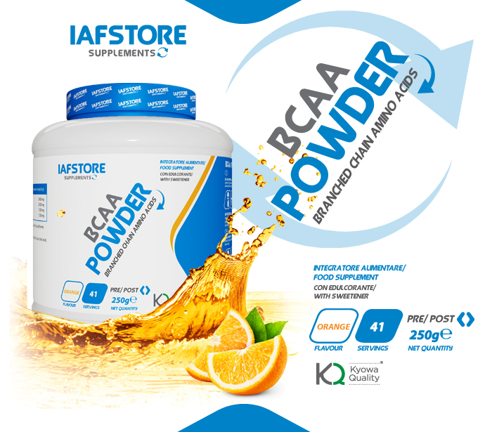 Iafstore Supplements - Bcaa Powder Kyowa® Quality - IAFSTORE.COM