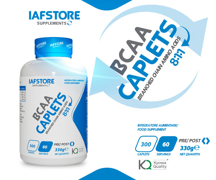 Iafstore Supplements - Bcaa Caplets 8:1:1 Kyowa® Quality - IAFSTORE.COM
