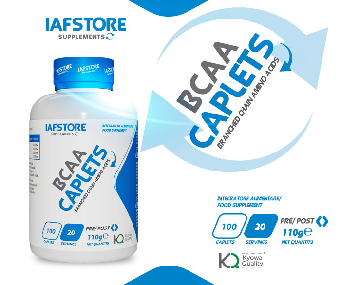 Iafstore Supplements - Bcaa Caplets Kyowa® Quality - IAFSTORE.COM